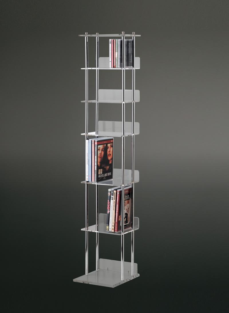Torre porta cd dvd plexiglass e metallo cromato home - Mobile porta cd ...