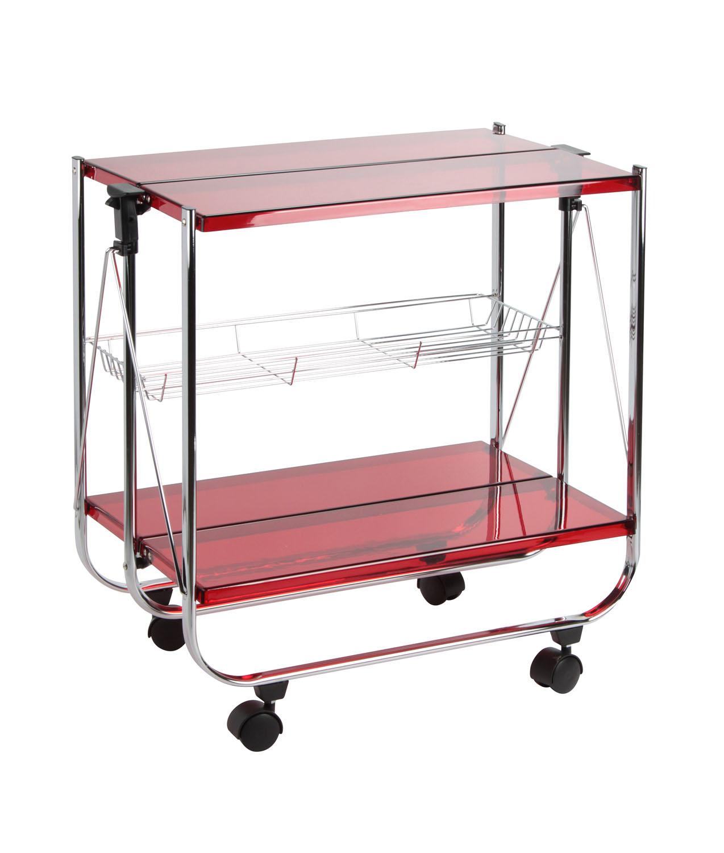 Carrello pieghevole | Metallo cromato e Plexiglass | Home Decor ...