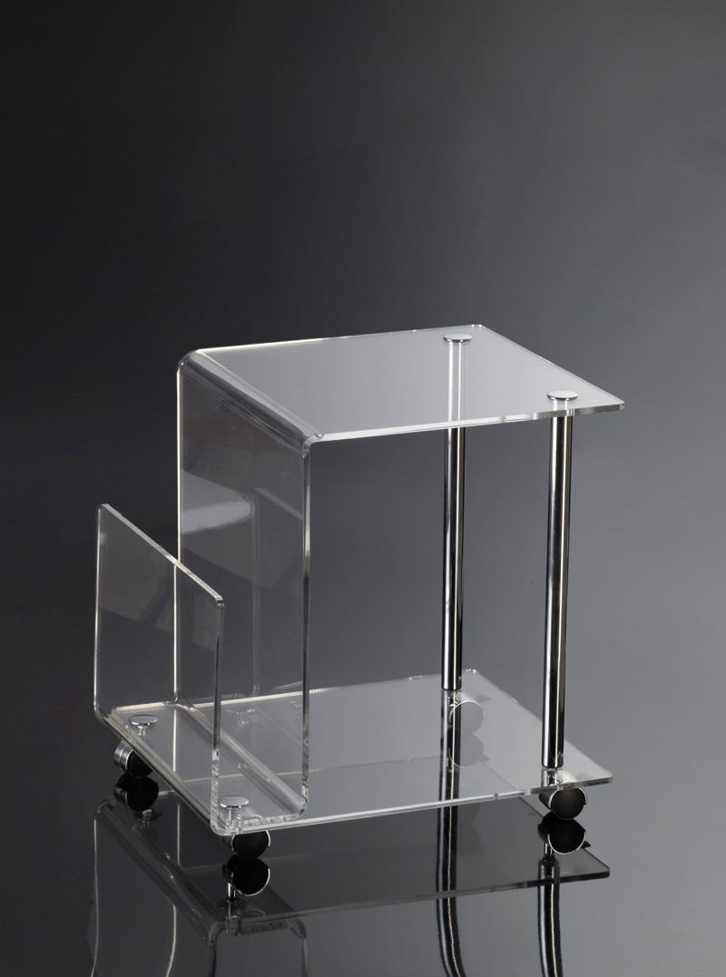 Comodino con ruote | Plexiglass e metallo cromato | Home Decor ...