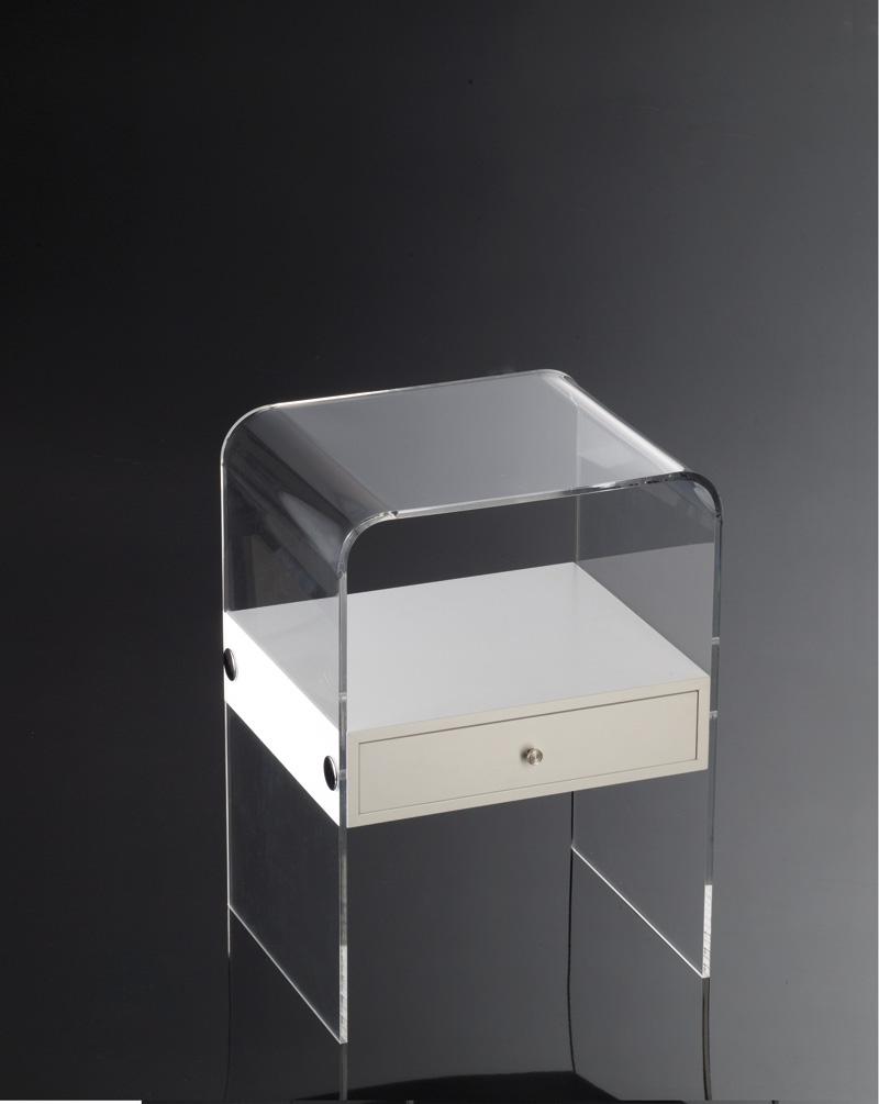 Tavolino con cassetto   Plexiglass e legno   Home Decor » Sheratonn