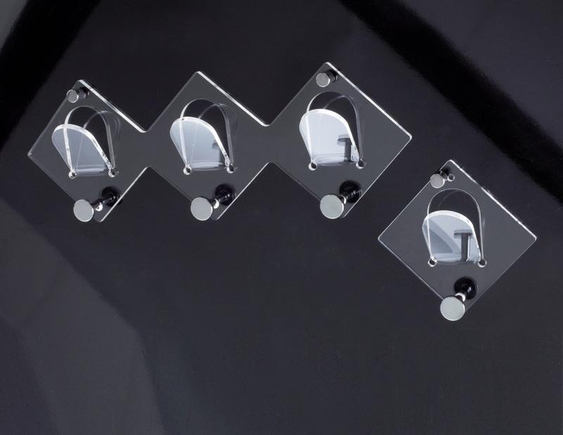 Appendiabiti singolo da muro plexiglass home decor for Appendiabiti parete